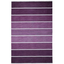 HRI Kabash Collection Reversible Area Rug - 9x12', Hand-Loomed Wool in Purple - Closeouts