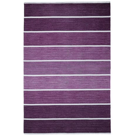 HRI Kabash Collection Reversible Area Rug - 9x12', Hand-Loomed Wool in Purple