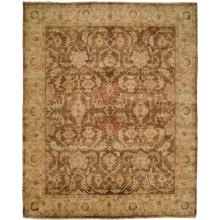 HRI Oushak Hand-Knotted Wool Accent Rug - 4x6' in Brown/Beige - Closeouts