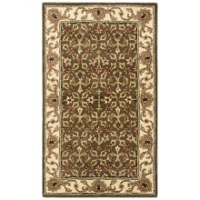 HRI Traditional Persian Design Area Rug - Hand-Tufted Wool, 8x10' in Brown/Beige - Closeouts