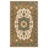 HRI Traditional Persian Design Area Rug - Hand-Tufted Wool, 8x10'