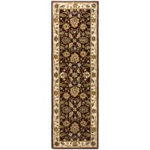 """HRI Traditional Persian Design Floor Runner - Hand-Tufted Wool, 2'6""""x8' in Red / Ivory - Closeouts"""