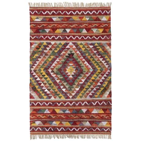 HRI Tribal Kilim Flat-Weave Accent Rug - 4x6'