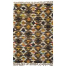 HRI Tribal Kilim Flat-Weave Area Rug - 8x10' in Yellow - Closeouts