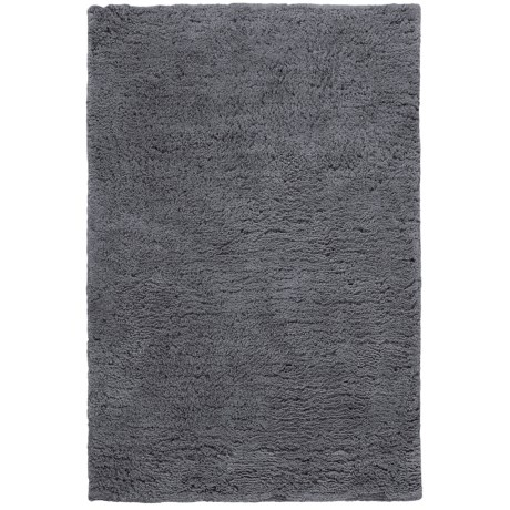 HRI Ultrasoft Shag Area Rug - 5x8' in Grey
