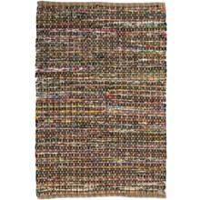 HRI Whisper Collection Handmade Rag Accent Rug -2'x3' in Beige - Overstock