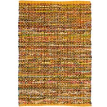 HRI Whisper Collection Handmade Rag Area Rug - 3x5' in Yellow - Overstock