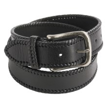H.S. Trask Electric City Belt - Leather (For Men) in Black - Closeouts