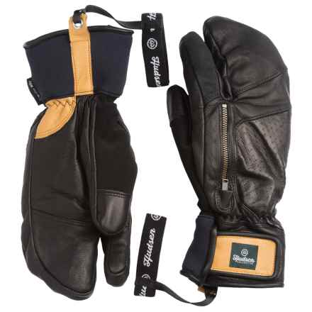 Hudsen by Swany Calvin 3-Finger Mittens - Waterproof, Insulated (For Men) in Black - Closeouts