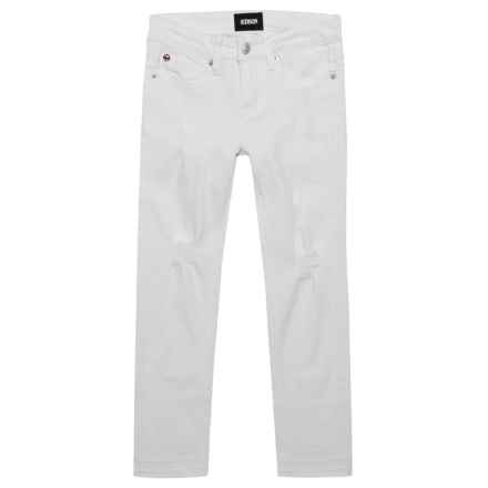 Ankle Crop Jeans (For Big Girls) in White Abyss - Closeouts