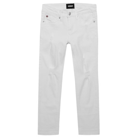 Hudson Ankle Crop Jeans (For Big Girls) in White Abyss