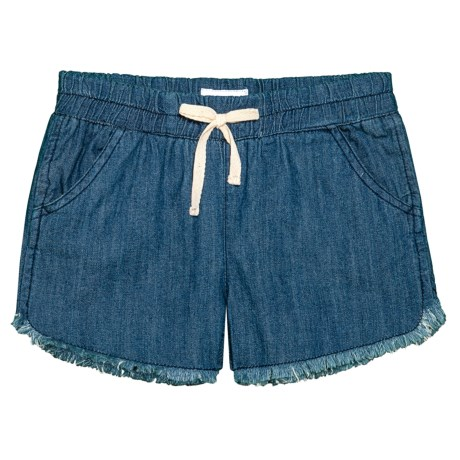 Hudson Chambray Jogger Shorts (For Big Girls) in Galeon