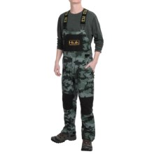 Huk All Weather Bib Overalls - Waterproof (For Men) in Black Camo - Closeouts