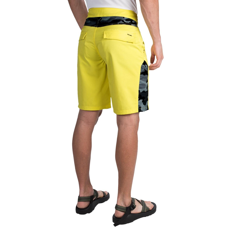 Huk camo boardshorts for men save 54 for Fishing board shorts
