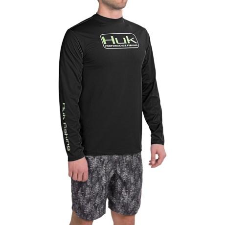 Huk hi performance moisture wicking icon performance l s for High performance fishing shirts