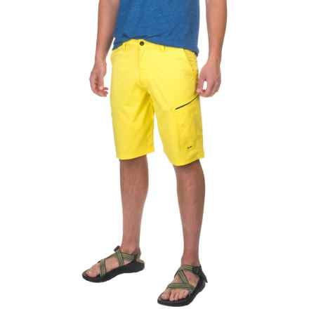 Huk Hybrid Lite Shorts (For Men) in Blaze Yellow - Closeouts