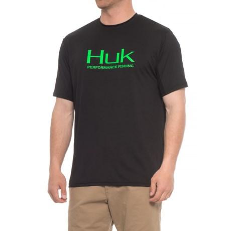 Huk Icon T-Shirt - Short Sleeve (For Men) in Black