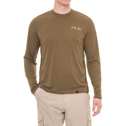 Huk K.C. Scott American Bass T-Shirt - Long Sleeve (For Men and Big Men) in Military Olive Drab - Closeouts