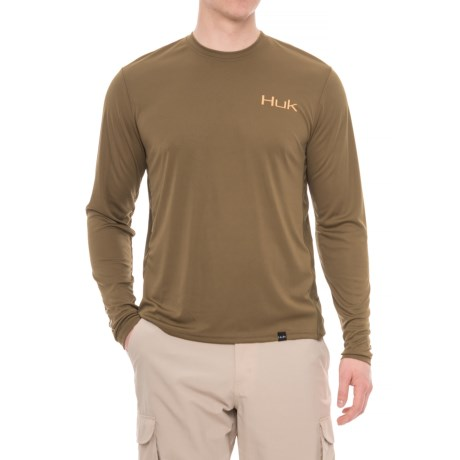 Huk K.C. Scott American Bass T-Shirt - Long Sleeve (For Men and Big Men) in Military Olive Drab