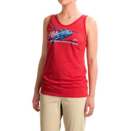 Huk KC Scott Double Down Tank Top (For Women) in Heather Red - Closeouts