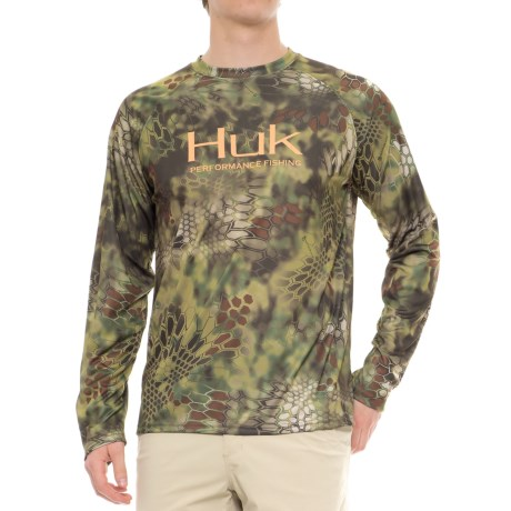 Huk Kryptek High-Performance Shirt - Long Sleeve (For Men and Big Men) in Kryptek Mandrake