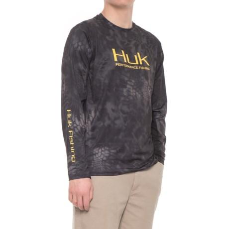 Huk Kryptek ICON Shirt - Long Sleeve (For Men) in Typhoon Yellow