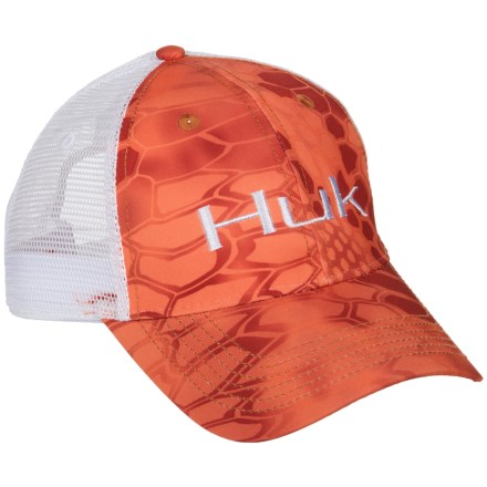 1030b23acee Huk Kryptek Logo Trucker Hat (For Men) in Kryptek Orange - Closeouts