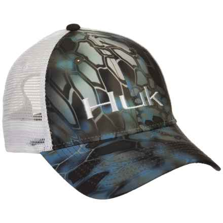 Huk Kryptek Logo Trucker Hat (For Men) in Neptune/White - Closeouts