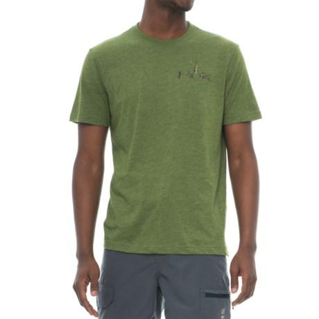 Huk KScott Challenge T-Shirt - Short Sleeve (For Men and Big Men) in Heather Green