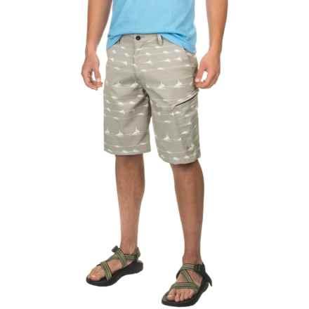 Huk KScott Lines Hybrid Lite Shorts (For Men) in Grey - Closeouts