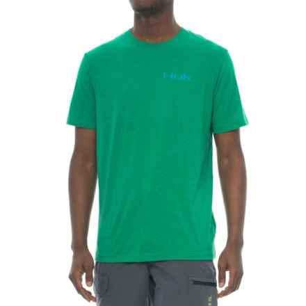 Huk KScott Midnight Banks T-Shirt - Short Sleeve (For Men and Big Men) in Heather Treefrog - Closeouts