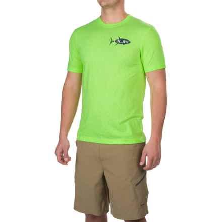 Huk KScott Tuna T-Shirt - Short Sleeve (For Men and Big Men) in Heather Neon Green - Closeouts