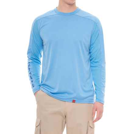 Huk Next Level ICE T-Shirt - UPF 30+, Long Sleeve (For Men and Big Men) in Heather Carolina Blue - Closeouts