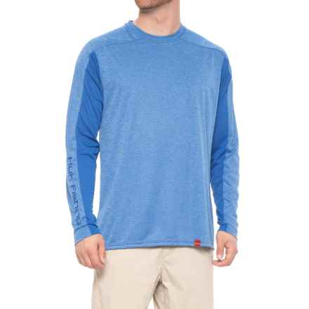 Huk Next Level ICE T-Shirt - UPF 30+, Long Sleeve (For Men and Big Men) in Royal Heather - Closeouts