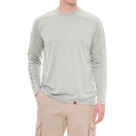 Huk Next Level ICE T-Shirt - UPF 30+, Long Sleeve (For Men and Big Men) in True Grey Heather - Closeouts