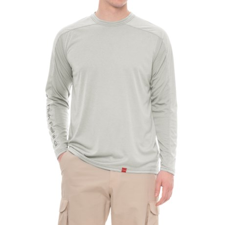 Huk Next Level ICE T-Shirt - UPF 30+, Long Sleeve (For Men and Big Men) in True Grey Heather