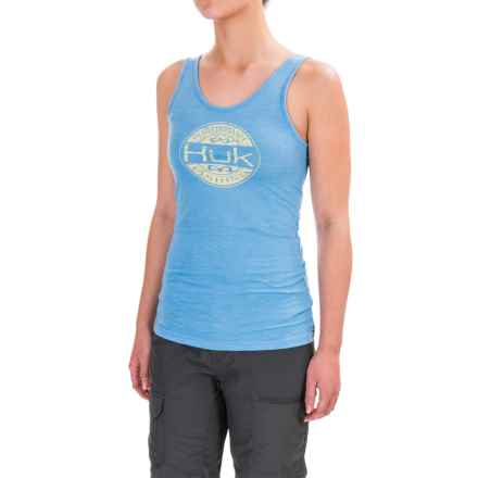 Huk Oval Tank Top (For Women) in Heather Carolina Blue - Closeouts