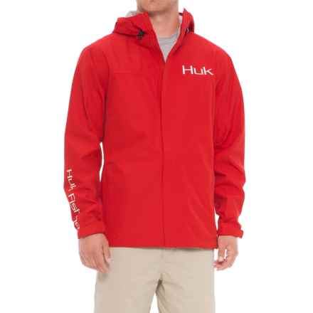 Huk Packable Rain Jacket - Waterproof (For Men) in Red - Closeouts