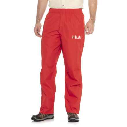 Huk Packable Rain Pants (For Men) in Red - Closeouts