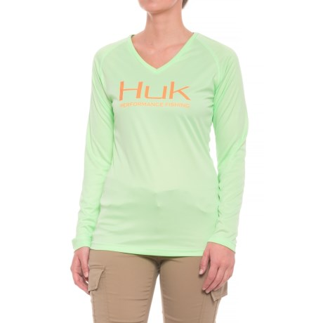 Huk Performance Shirt - Long Sleeve (For Women) in Key Lime