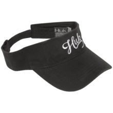 Huk Script Visor (For Men) in Black - Closeouts