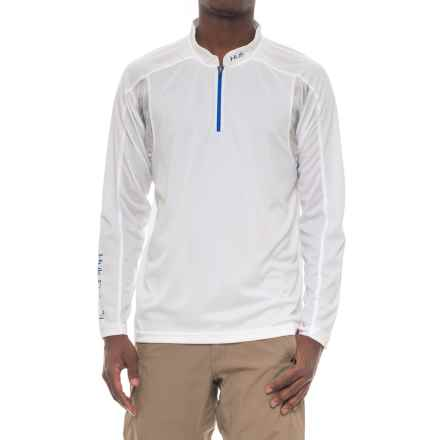 Huk Trophy Shirt - Zip Neck, Long Sleeve (For Men and Big Men) in White - Closeouts