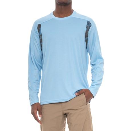 Huk Trophy T-Shirt - Long Sleeve (For Men and Big Men) in Carolina Blue