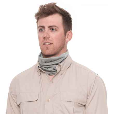Huk Vertical Logo Neck Gaiter (For Men) in Grey - Closeouts