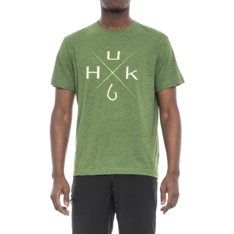 Huk Xmark T-Shirt - Short Sleeve (For Men and Big Men) in Heather Green