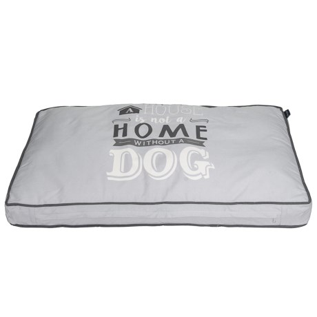 "Humane Society ""A House is Not a Home"" Rectangle Dog Bed - 28x40"" in Grey"