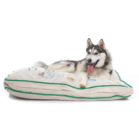 """Humane Society Camp Friendship Rectangle Dog Bed - 28x40"""" in Natural"""