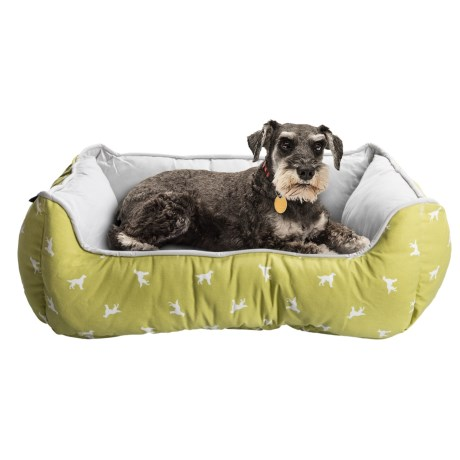 Humane Society Dog Pattern Lounger Dog Bed - 28x22""