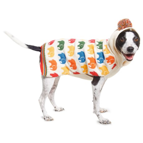 Humane Society Edwin Hooded Dog Sweater in Multi