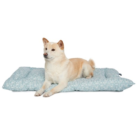 """Humane Society I Love My Dog Crate Mat - 23x36"""" in Blue"""